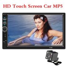 цена на LAMJAD 2 din Car Stereo 7 HD Car Radio Bluetooth FM Audio MP5 Player 2din Autoradio Support Rear View Camera 7018B Radio Car
