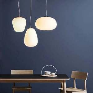 Image 5 - Скандинавский молочно белый подвесной светильник simlpe E27, стеклянный одноголовый светильник для гостиной, столовой, спальни, прикроватной тумбочки, ресторана, кафе бара