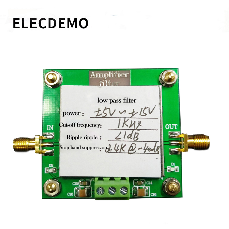 Low-pass Filter Module 8th-order Filtering Cut-off Frequency 1KHz In-band Ripple Less Than 1dB Stopband Rejection