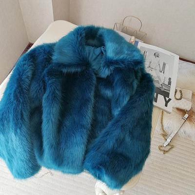 2020 New Style High-end Fashion Women Faux Fur Coat S109