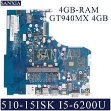 KEFU NM A751 Laptop motherboard for Lenovo 510 15ISK 310 15ISK original mainboard 4GB RAM I5