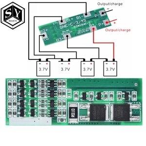 Защитная плата Great IT для зарядки литий-ионных аккумуляторов, полимерная, литий-ионная, 4 шт., 3,7 дюйма, 4 шт., BMS