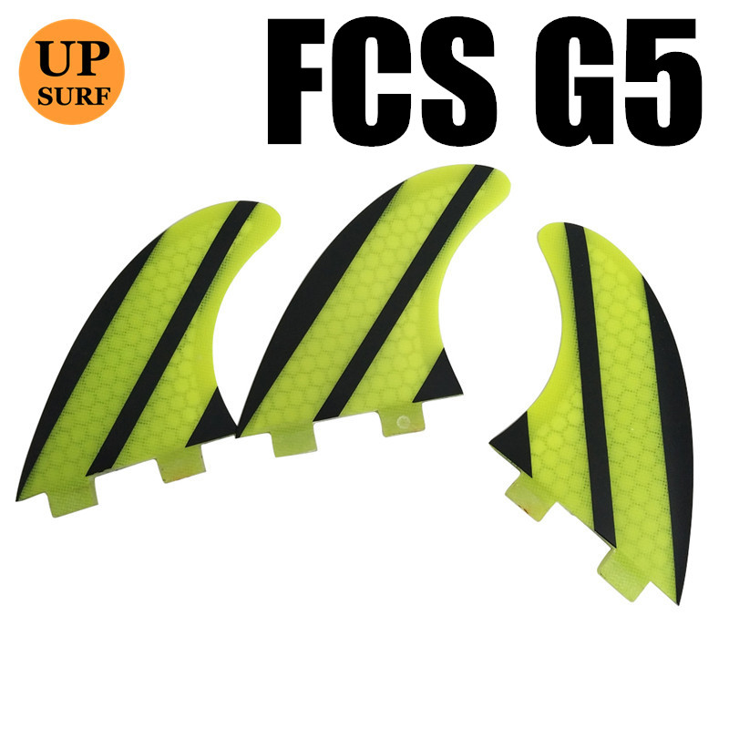 एफसीएस जी 5 फिन क्विलस एफसीएस नि: शुल्क शिपिंग सर्फ़बोर्ड नाइस शेप हनीकॉम्ब फ़िन सर्फ़