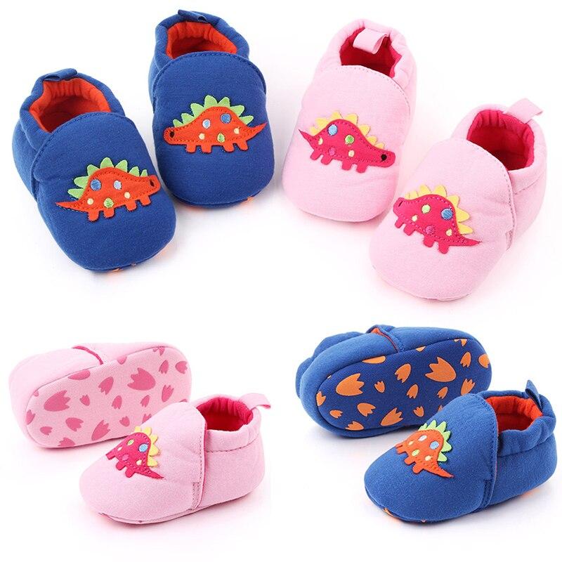 Toddler Newborn Baby Boys Girls Dinosaur Crib Shoes Infant Cartoon Soft Sole Non-slip Cute Warm Animal Baby Shoes 2019