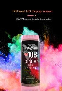 Image 5 - Letike reloj inteligente GT101 para hombre y mujer, pulsera con control del ritmo cardíaco y del sueño en tiempo real, color rosa
