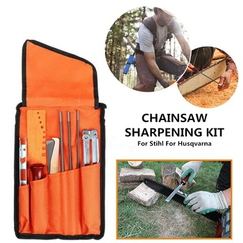 10PCS/Set Professional Chainsaw Chain Sharpening Kit Tool for Chain Sharpen Saw Files Tool