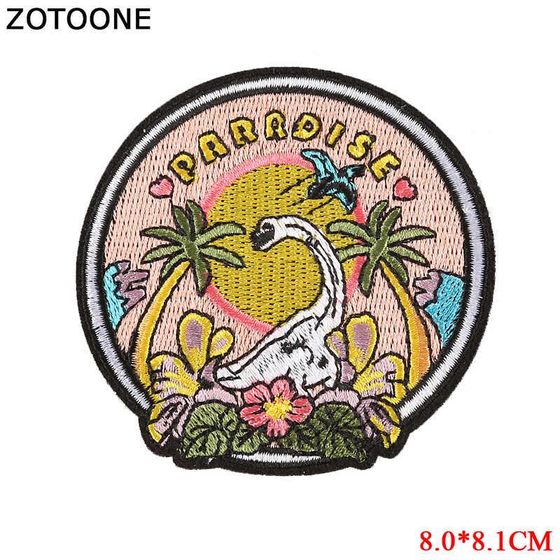 Zotoone Ferro su Cool Uomo Occhiali da Sole Alien Toppe E Stemmi Patch per Abbigliamento Dinosauro Badge Sew on Giubbotti Vestiti Applique Trasferimento di Calore fai da Te G