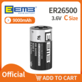 EEMB 1PC 3.6V C Size Lithium Battery ER26500 9000mAh NON-Rechargeable Battery for Water Meter Window Sensor Alarm Home Monitor