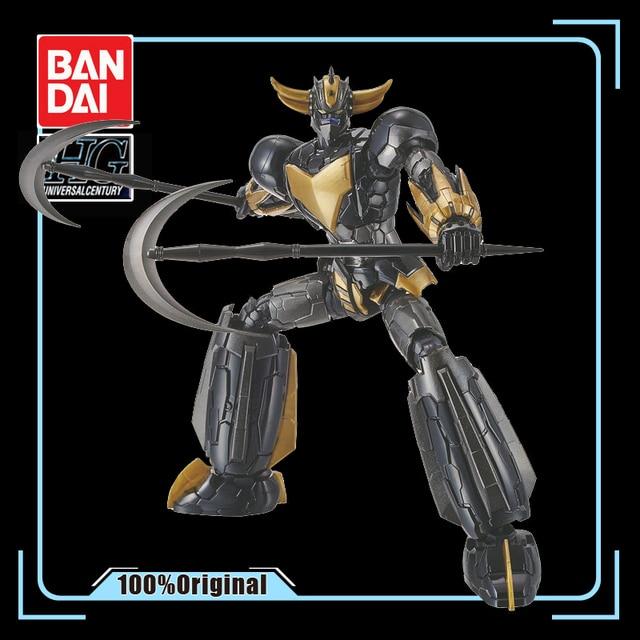 BANDAI Robot ovni HG 1/144, noir, or, Grendizer GUNDAM, Rare Spot à assembler, jouets pour enfants, figurines de dessin animé