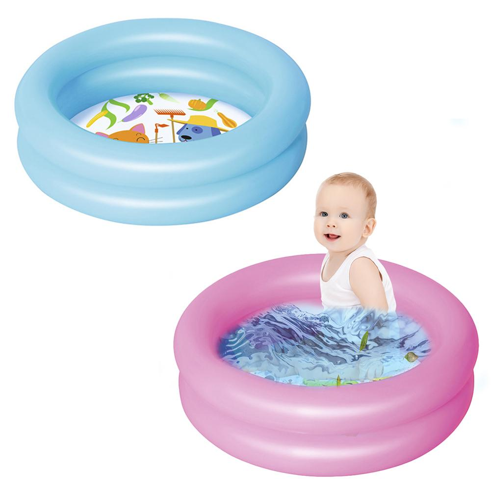 61x15cm Summer Baby Inflatable Swimming Pool Children Round Basin Bathtub Portable Kids Outdoors Sport Play Toys