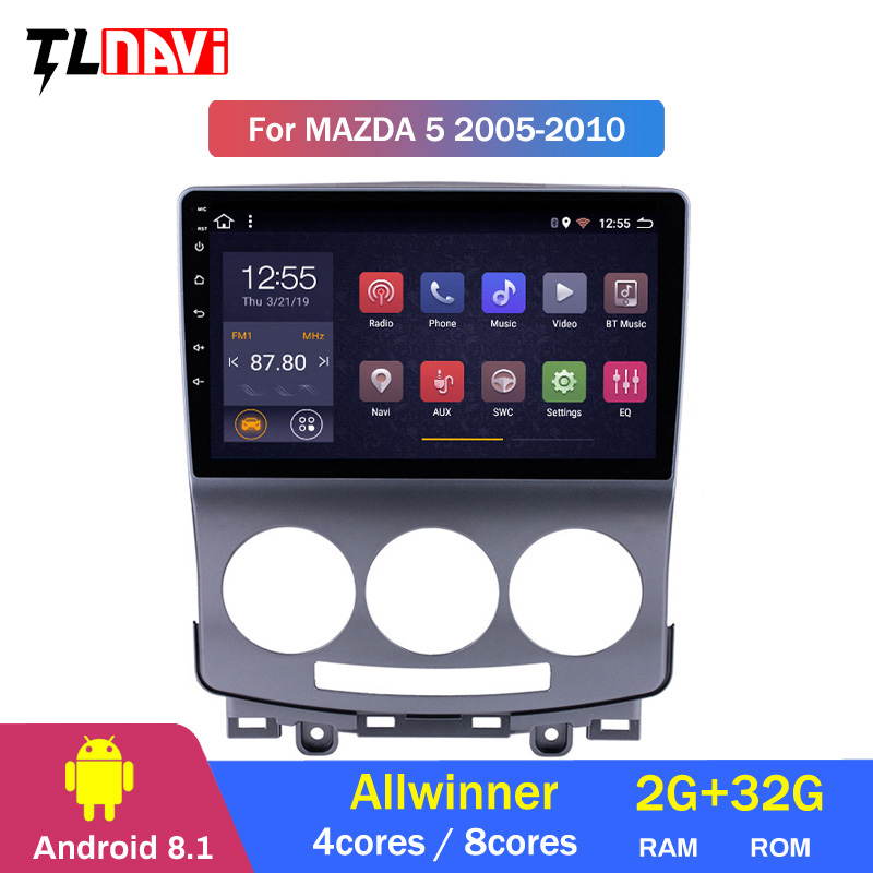 Android 8.1 Auto dvd Player für <font><b>Mazda</b></font> <font><b>5</b></font> <font><b>2005</b></font> 2006 2007 2008 2009 2010 Mazda5 radio 1024*600 gps wifi octa core IPS screen BT RDS image