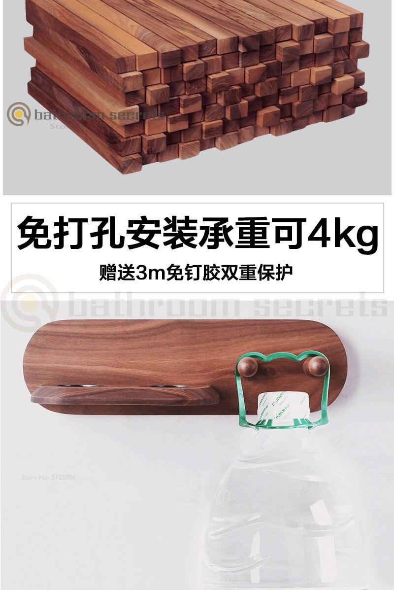 Применимый держатель для фена Dyson, настенный держатель для фена, полка для хранения волос из твердой древесины