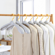 5pcs/Lot Drying Clothes Rack Thicken Wide Shoulder Plastic Non-Slip Hangers Wardrobe Closet Scarf Home Organizer