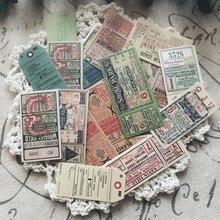 22 unids/set Retro Vintage europeo boleto etiqueta engomada DIY Scrapbooking álbum diario planificador pegatinas