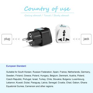"Image 5 - 1pcs האוניברסלי האיחוד האירופי Plug מתאם בינלאומי AU בריטניה ארה""ב לאיחוד האירופי אירו KR נסיעות מתאם חשמל תקע ממיר כוח שקע"