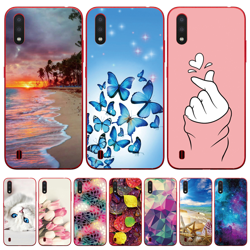 Case For Samsung A01 Case Soft Silicon Back Cover Transparent Phone Case For Samsung Galaxy A01 GalaxyA01 A 01 A015 Case 5.7inch