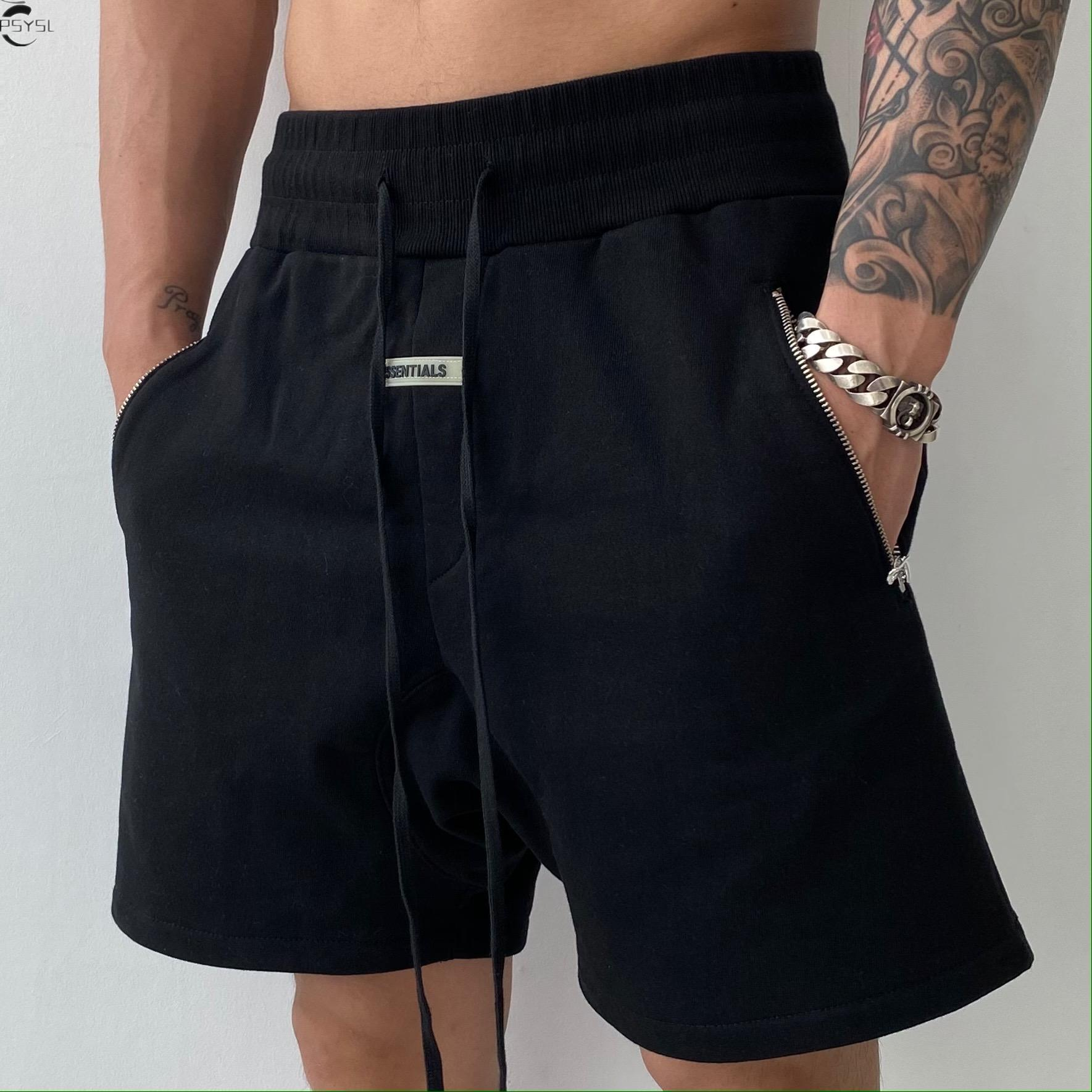 Pure Color New Men's Shorts Summer Brand Clothing Hip Hop Streetwear Male Short Pant Siksilk Casual Silk Silk Men Shorts 2021