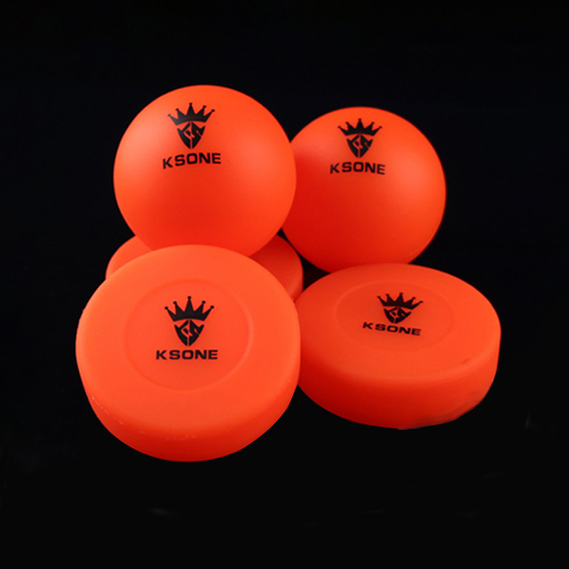 Roller Road Hockey Round No-Rebound Ball Street Ice Hockey Training Practice Orange Color Hockey Puck