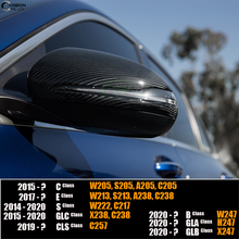 Genuine Carbon Fiber Exterior Door Mirror Cover Caps for Mercedes B C E S GLA GLB GLC W247 W205 W213 W222 H247 X247 C253 X253