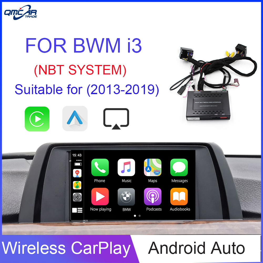 QMCAR Wireless Apple CarPlay for BWM I3 Android Auto /Carplay Support Mirrorlink and ios 13 Airplay image