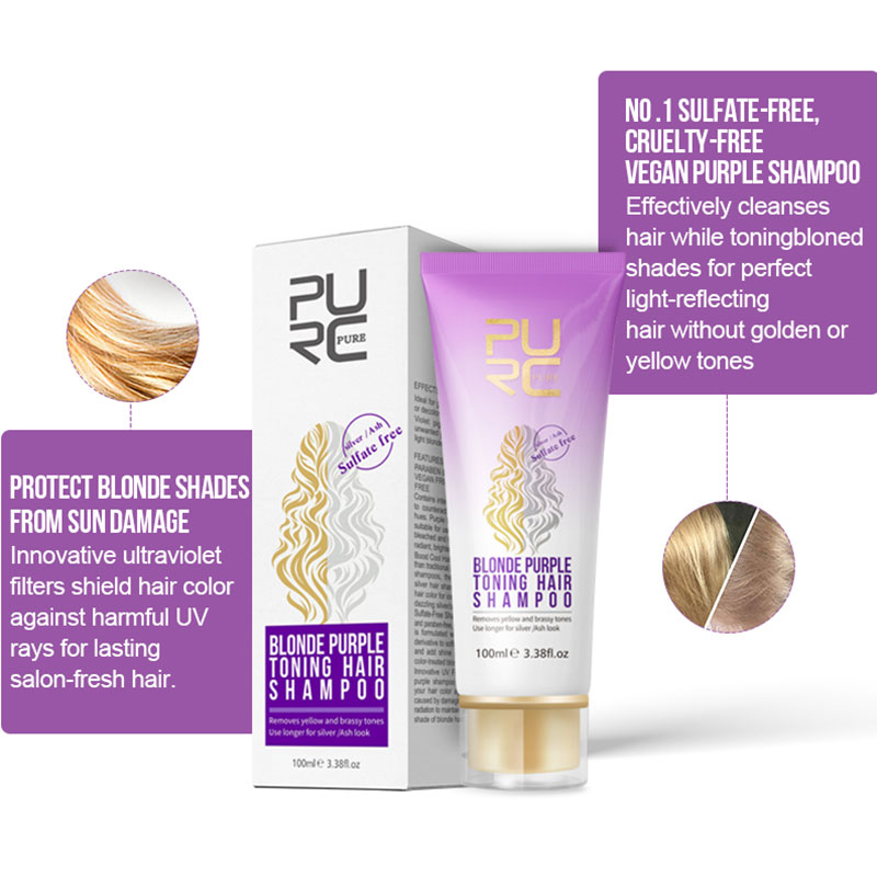 Professional Blonde Bleached Highlighted Shampoo Revitalize Effective Purple Shampoo For Blonde Hair Shampoos Wholesale Hot