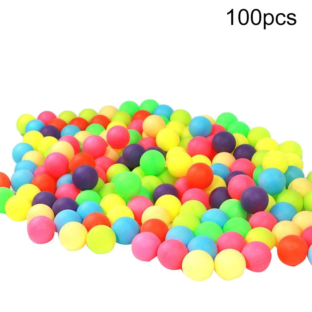 100pcs/pack Colorful Pingpong Balls Entertainment Table Tennis Training Ball Mixed Colors For Game