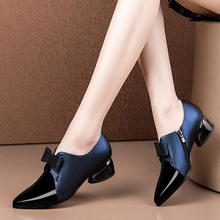 Ladies Shoes Low-Heels Designer Big-Size Pump Pointed-Toe Woman New-Fashion 35-42 Dress