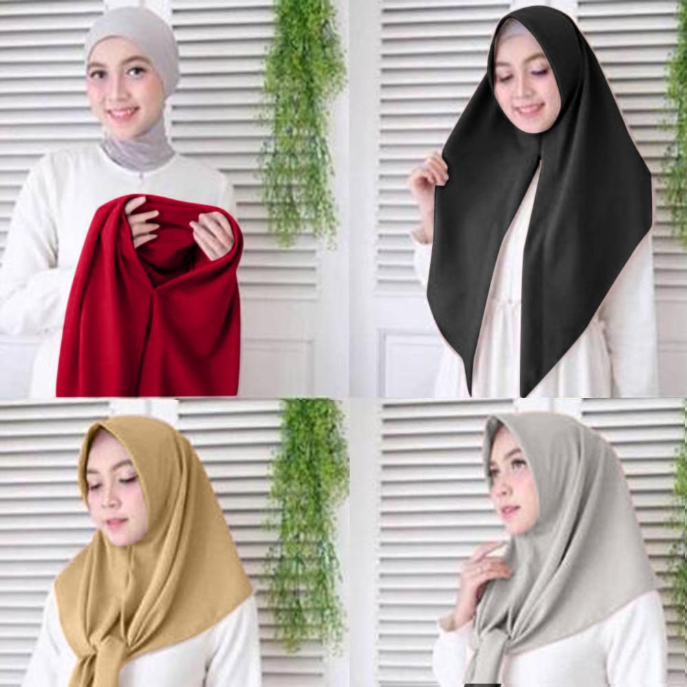 150cmX50cm Muslim Women Inner Hijab Women Solid Soft Turban Hat Hair Head Scarf Wrap Hijib Cap Shawl Headwear #HFR52