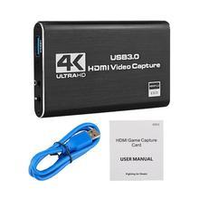4K игры Карта видеозахвата USB3.0 1080P Grabber Dongle, совместимому с HDMI карта захвата для OBS захвата игровая карта захвата в прямом эфире