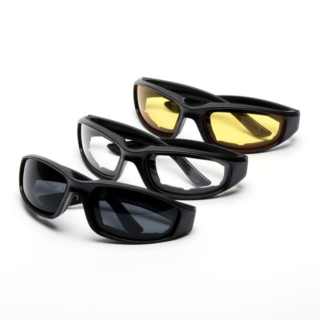3 Pair Motorcycle Riding Glasses  1