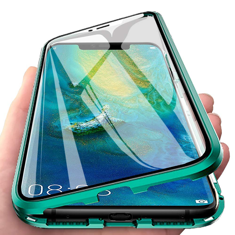 Luxury 2nd <font><b>Magnetic</b></font> Flip <font><b>Cases</b></font> for Huawei <font><b>Honor</b></font> <font><b>8X</b></font> Front Back Double Sided Tempered Glass 360 Shockproof Phone Cover Honor8X 8 X image