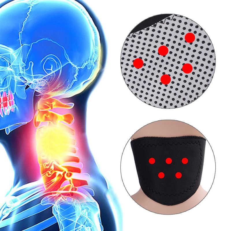 Auto aquecimento pescoço massageador turmalina terapia magnética pescoço massageador vértebra proteção espontânea aquecimento cinto corpo massageador