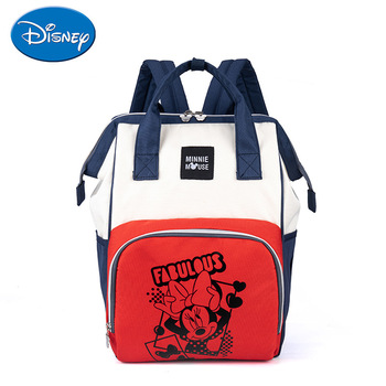 Disney Fashion Mummy Bag Outdoor large-capacity travel backpack with baby Shoulder multifunctional diaper mother and baby bag