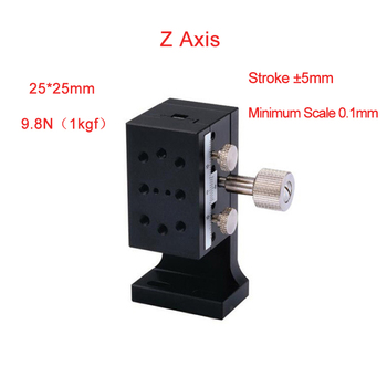 Z Axis 25*42mm Manual Displacement Vertical-lift fine tuning platform Cross Roller Guide Linear Stage Sliding Table PLWFV25-R/L
