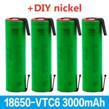 2020 100% original 3.7 V 3000 MAH 18650 battery for us18650 Sony VTC6 30A toys tools flashlight battery + DIY nickel piece
