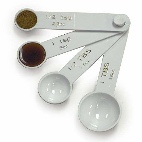 Norpro Plástico Cucharas Medidoras, Juego De 4, Blanco