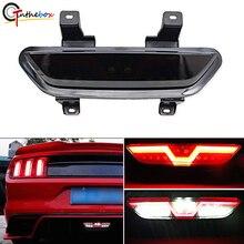 Gtinthbox Smoked Objektiv Alle In Eine Volle LED Rot/Weiß Hinten Nebel Licht Kit (Bremse Backup reverse Funktionen) für 2015 up Ford Mustang