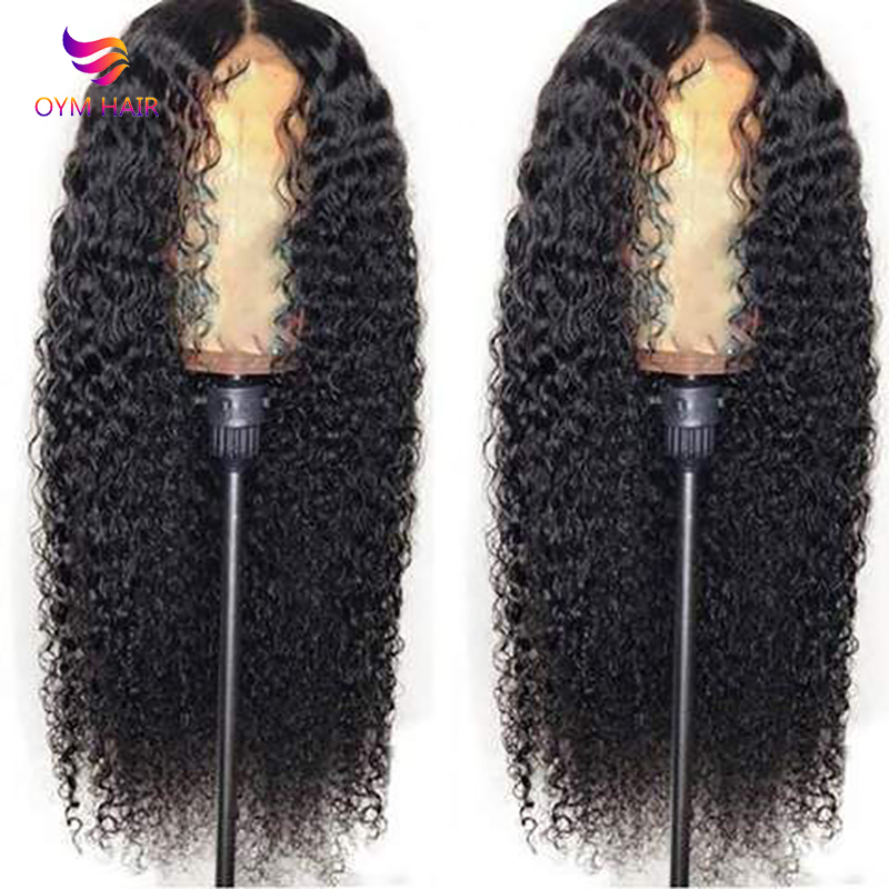 Curly Human Hair Wig Brazilian Short Long Lace Front Human Hair Wigs For Black Women 150 % Density 13x4 Lace Wig Remy