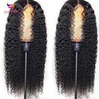 Lockiges Menschliches Haar Perücke Brasilianische Kurze lange Spitze Front Menschliches Haar Perücken Für Schwarze Frauen 150% Dichte 13x4 spitze Perücke Remy