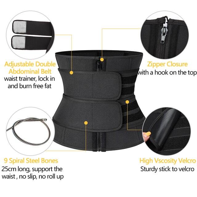 Men Waist Trainer Corset Sauna Sweat Sports Girdles Gym Fitness Modeling Strap Slimming Shaper Workout Trimmer Belt Shapewear 3