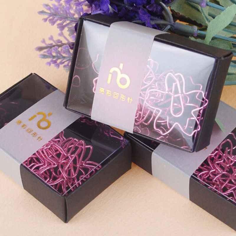 12 unids/lote Clips de papel rosa de alta calidad plateado Sakura, marcador de aguja de papel, Clip de Metal para notas, papelería, Clips de caja de flores de cerezo