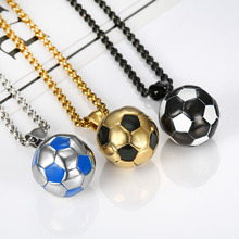 MINN Necklace Mens Liverpool Football Stainless Steel Gold Pendant Personality