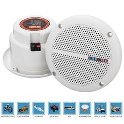 1 para wodoodporny 25W pełnozakresowy łódź morska głośniki sufitowe ścienne trawnik ogrodowy wodoodporny głośnik instalacyjny
