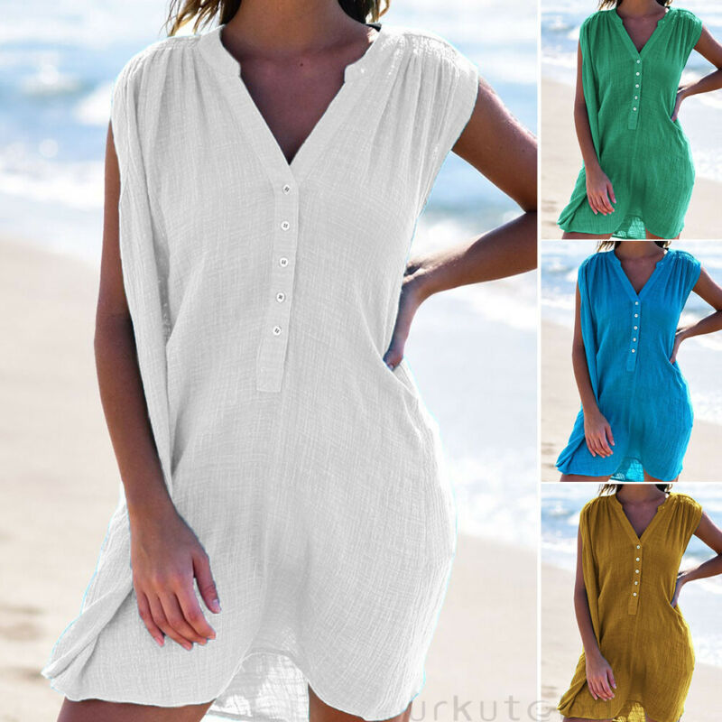 Hot Selling Women Beachwear Swimwear Bikini Soft Cover Up Kaftan Ladies Summer Dress UV Protection Bikini Cover Up