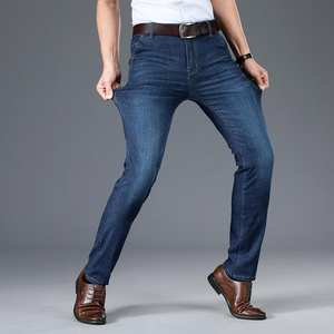 Long-Pants Jeans Men Stretch Male for Business Top-Quality New-Arrival