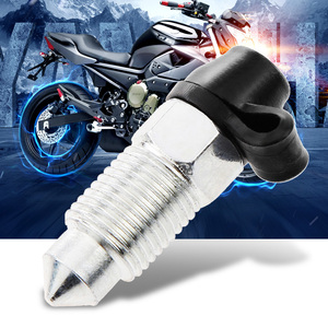 Image 3 - M10x1mm Motorcycle Brake Caliper Screw Stainless Bleed Nipple & Dust Cap For Yamaha Honda Suzuki KTM Etc Motorcycle Accessories