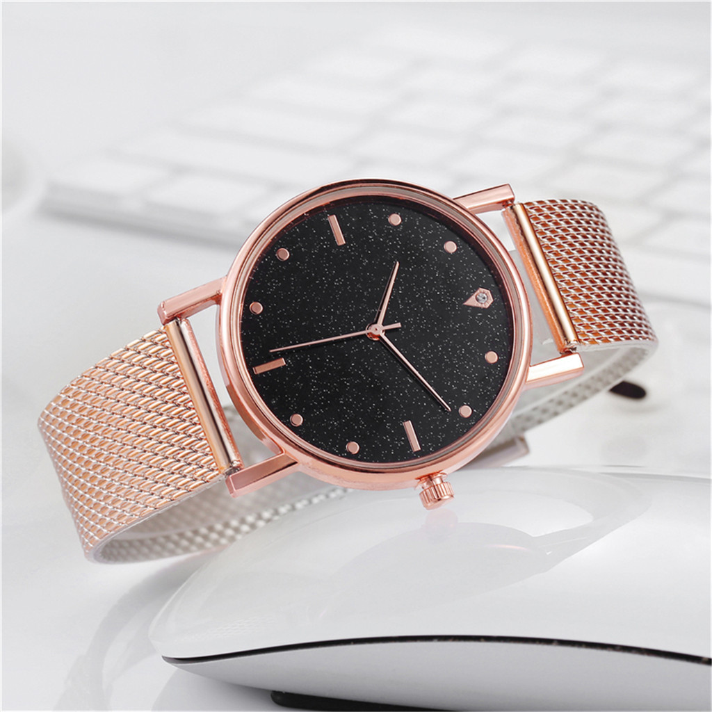 Fast delivery Business Women Watch Luxury Watches Quartz Watch Stainless Steel Dial Casual Bracele Watch Female Gift Cheap 4