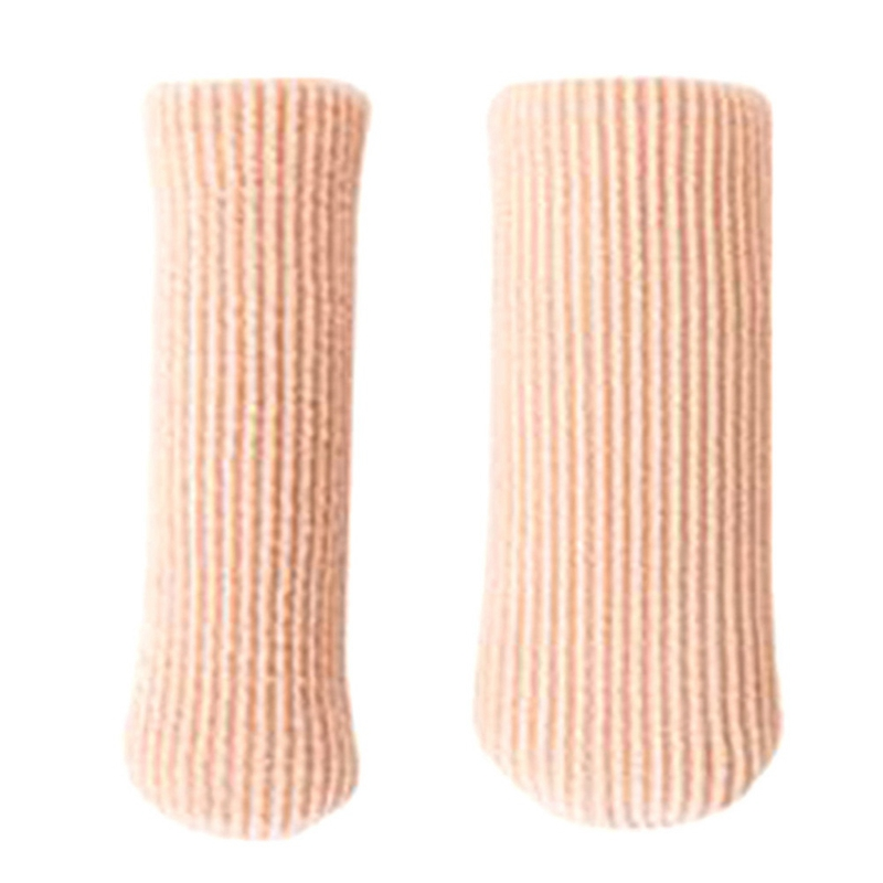 1pc Toe Separators Fabric Gel Tube Ribbed Bandage Finger And Toe Protector Hand Foot Pain Relief Cover For Feet Can Cilp Length