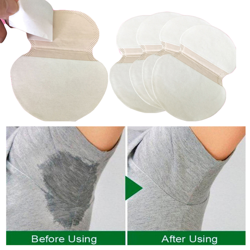 10/30/50/100Pcs Summer Deodorant Absorb Armpit Sweat Pads Armpit Sweat Underarm Pads Disposable Underarm Anti Sweat Pads Patches