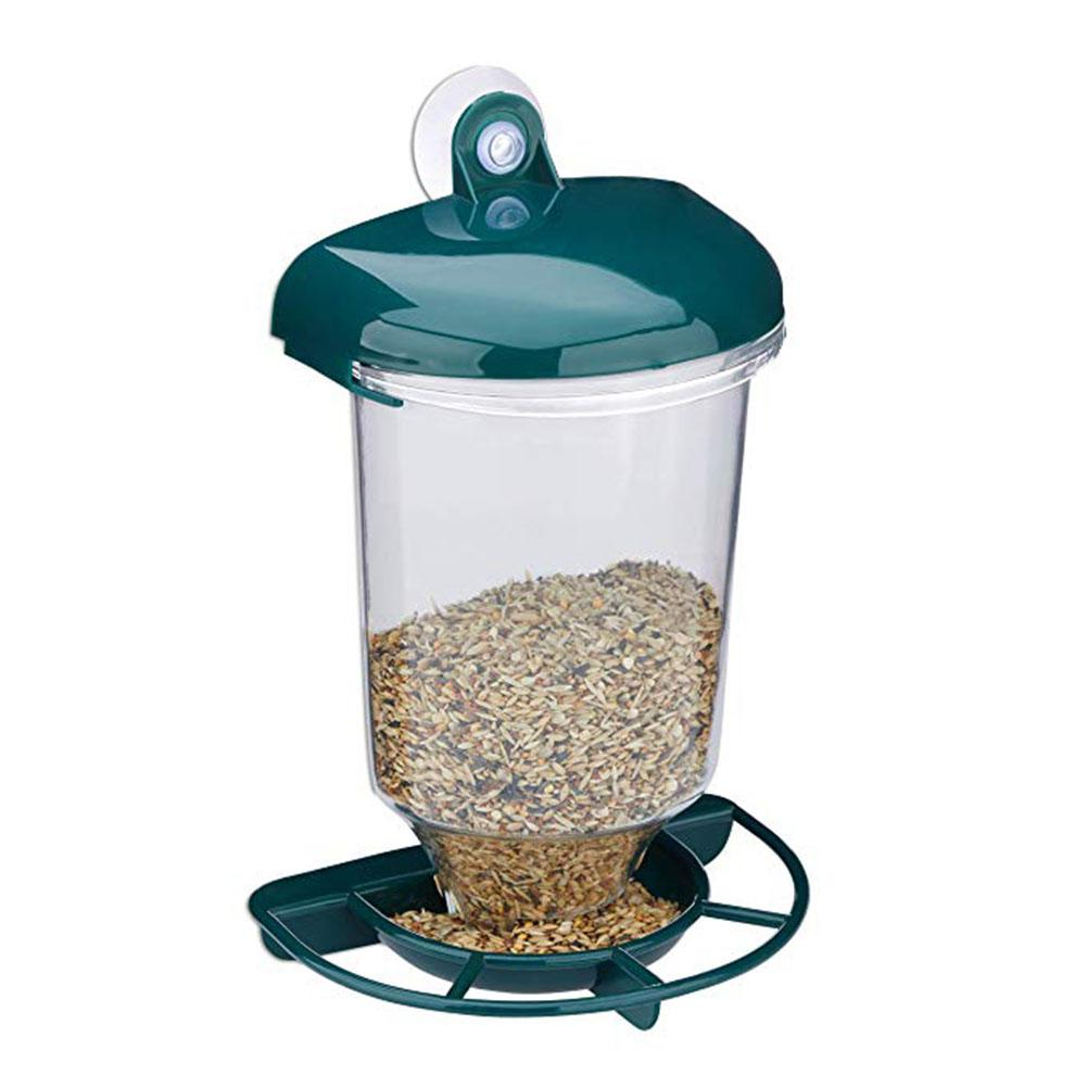 TPFOCUS Bird Feeder Transparent Hanging Suction Cup Automatic Bird Feeder with Cover for Pet With this seed dispenser